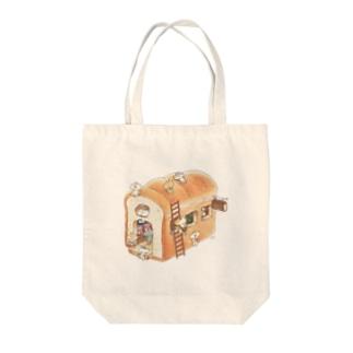 パンのジャム屋さん Tote bags