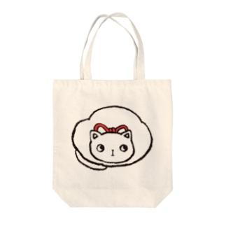 maruneko-shiro- Tote bags
