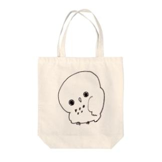 ごめんフクロウ Tote bags