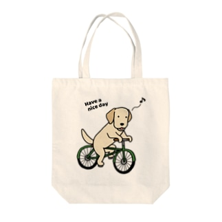 bicycleラブ イエロー Tote bags