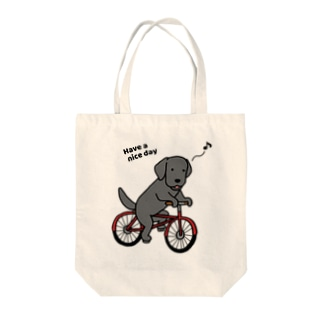 bicycleラブ 黒 Tote bags
