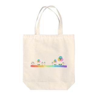 混色フラワー(プリント) Tote Bag