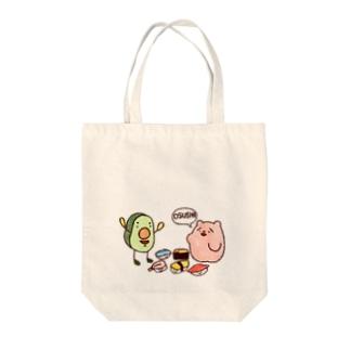 野生のOSUSHI Tote bags