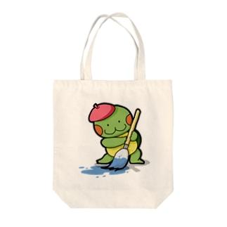 お絵描きかめ吉 Tote bags