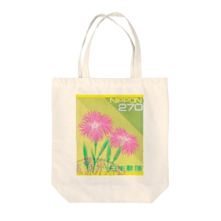 Japanese postage stamp: Dianthus Tote bags