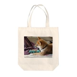 日本の犬:柴犬 Japanese dog: Shiba inu Tote bags