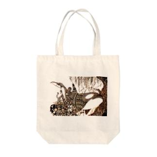 鯱植物図 Tote bags