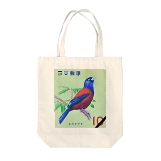 Japanese postage stamp: Lidth's jay Tote bags