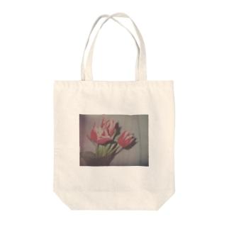 """お花シリーズ """"チューリップ"""" Tote bags"""