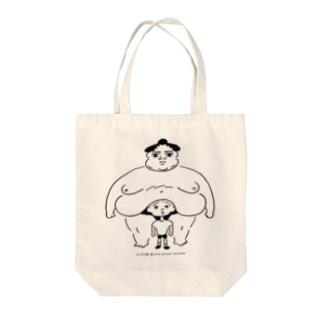「たぷの里と少年」 Tote bags