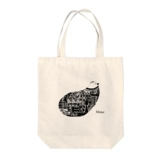 Bird monochrome Tote bags