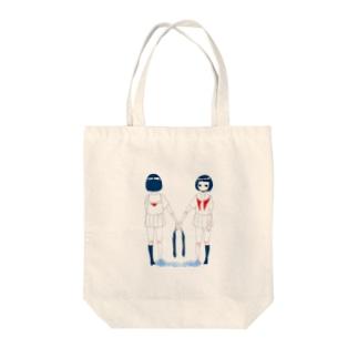ミズノウエノ Tote bags