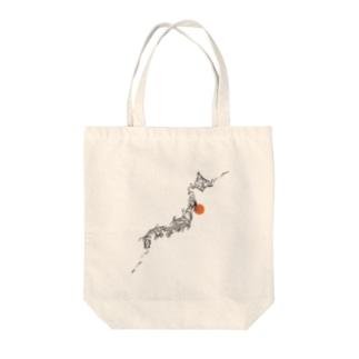 トライバル日本列島 Tote bags