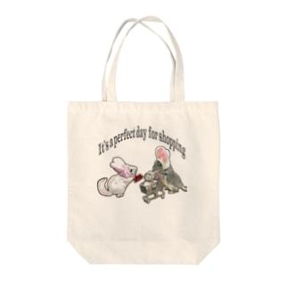 うさチラショッピング Tote bags