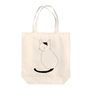 ニャニャ Tote bags