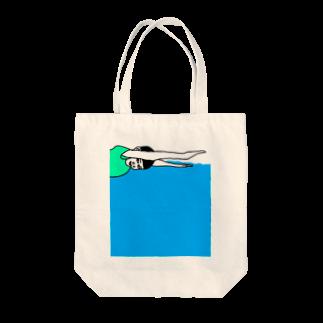 Kenpoppunkの泳ぐ Tote bags
