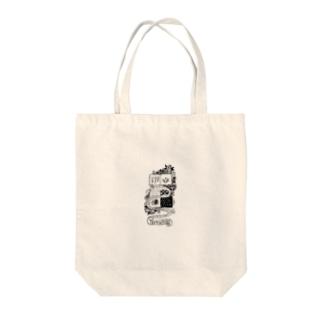 ラブリースネーク Tote bags
