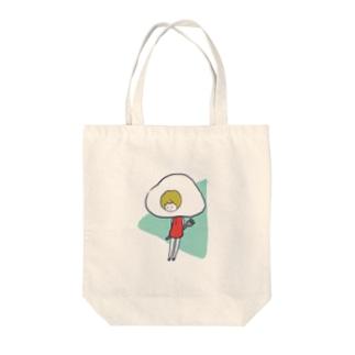 目玉焼き少女 Tote bags