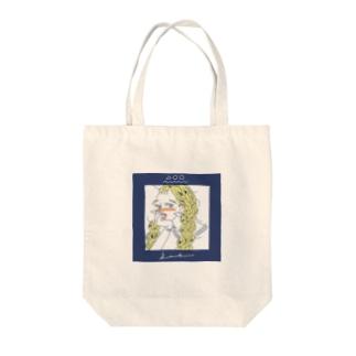 かわいい女の子CDジャケット風 Tote bags