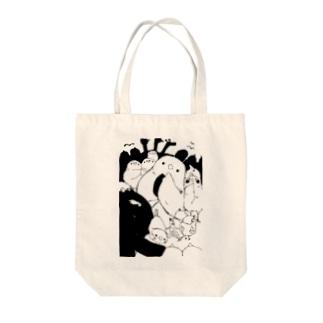 ぎゅうぎゅう Tote bags