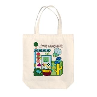 LOVE MACHINE Tote bags