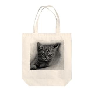 リアル猫(仮) Tote bags