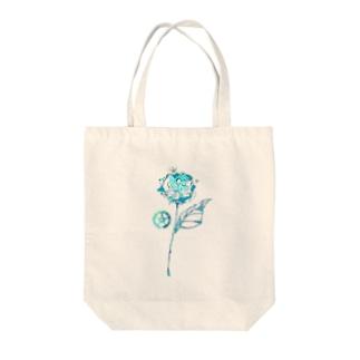 青い薔薇 Tote bags