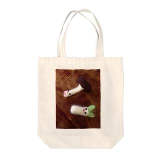パンケ期のシイタケとネギ Tote bags
