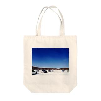 湖での走行会 Tote bags