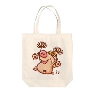 ぶたんぽぽ Tote bags