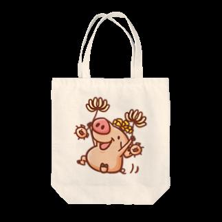 NEGI@トトくん・ひとえうさぎのぶたんぽぽ Tote bags