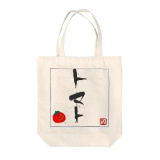 トマト Tote bags
