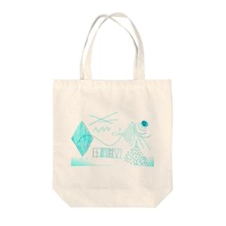 幾何学模様的なデザイン Tote bags