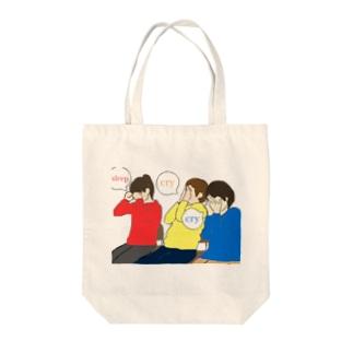 cry cry sleep Tote bags