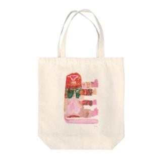 モサモサのオサル Tote bags