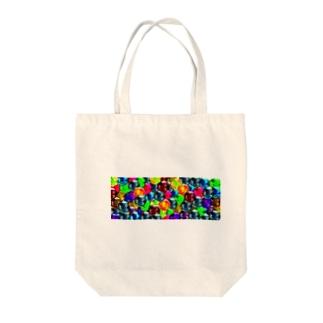 ビー玉いっぱい(ビビット) Tote bags