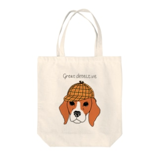 great  detective beagle Tote bags
