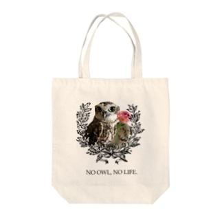 NO OWL, NO LIFE. Tote bags