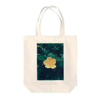 yellow flower Tote bags