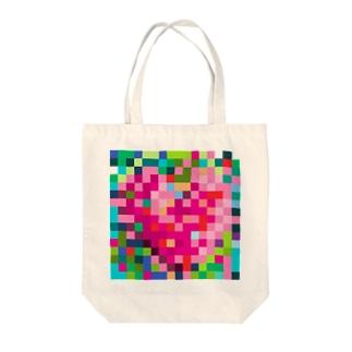 あないすみーやそこ shopの8bit heart Tote bags