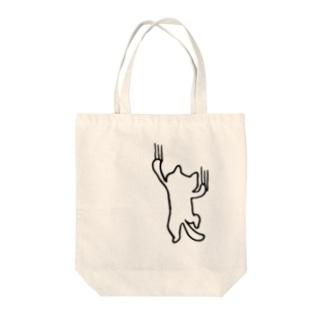 よじ登る猫 Tote bags