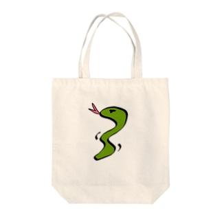 Mr.Snake Tote bags