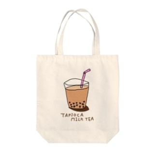 タピオカミルクティー。 Tote bags