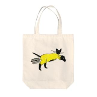 flying cat トートバッグ
