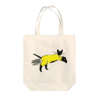 flying cat Tote bags
