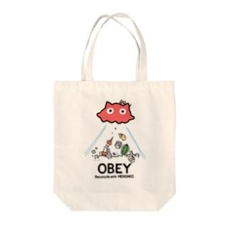 めんだこちゃん OBEY (淡色用)  Tote bags