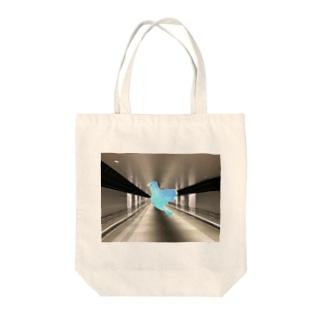 ブルー鳥 Tote bags