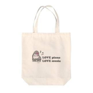 ピアニストローズ Tote bags