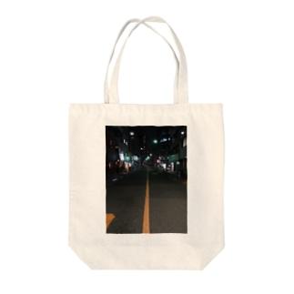 夜道 Tote bags