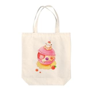 ポコポコマカロン Tote bags